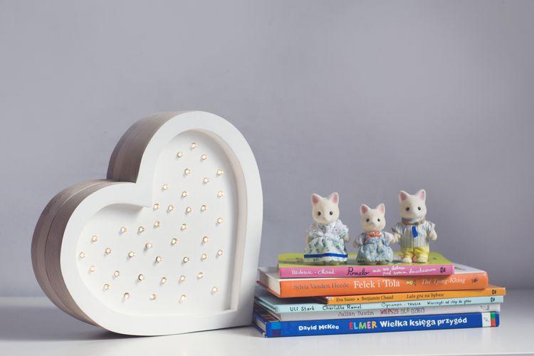 Nattlampa till barnrummet Lampa vit hjärta lampa, Little Lights