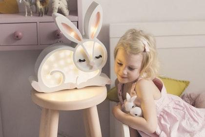 Nattlampa till barnrummet vit hare lampa, Little Lights