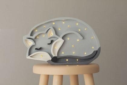 Nattlampa till barnrummet Lampa varg lampa, Little Lights