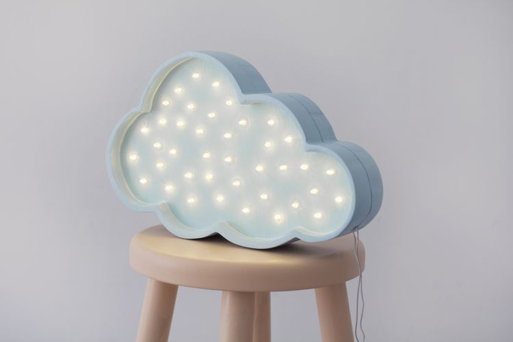 Nattlampa till barnrummet moln lampa, Little Lights