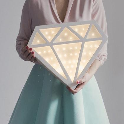 Nattlampa till barnrummet Lampa diamond lampa, Little Lights