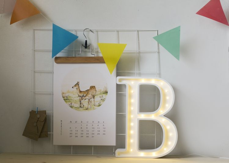 Nattlampa till barnrummet bokstav B - lampa, Little Lights