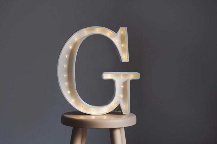 Nattlampa till barnrummet bokstav G - lampa, Little Lights
