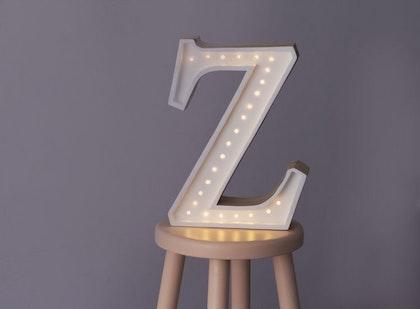 Nattlampa till barnrummet bokstav Z - lampa, Little Lights
