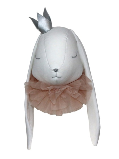 Djurhuvud vit kanin prinsessa