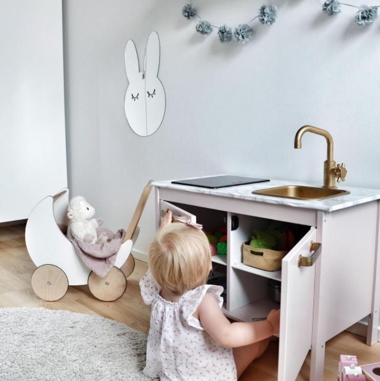 Kanin Spegel silver - Barnspegel till barnrummet Spegel för barn