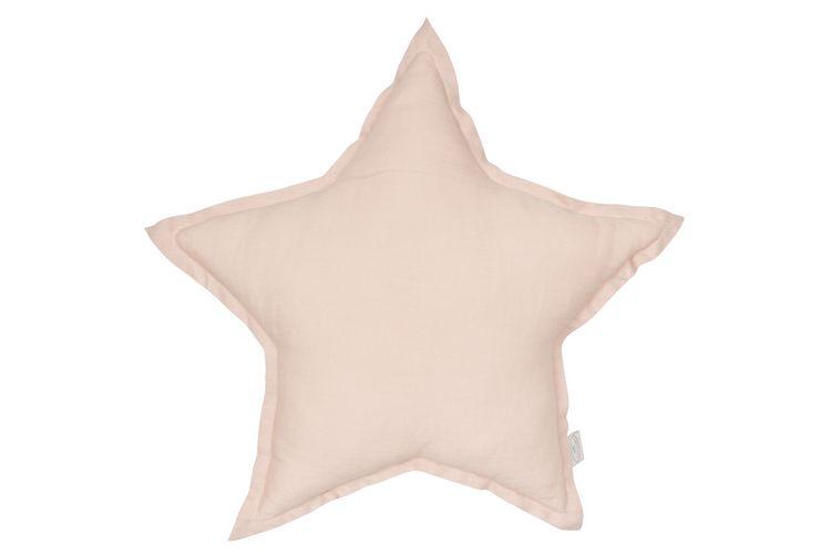 Kudde puderrosa stjärna av linne, Cotton&Sweets Kudde puderrosa stjärna av linne, Cotton&Sweets