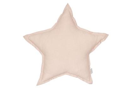 Kudde puderrosa stjärna av linne, Cotton&Sweets