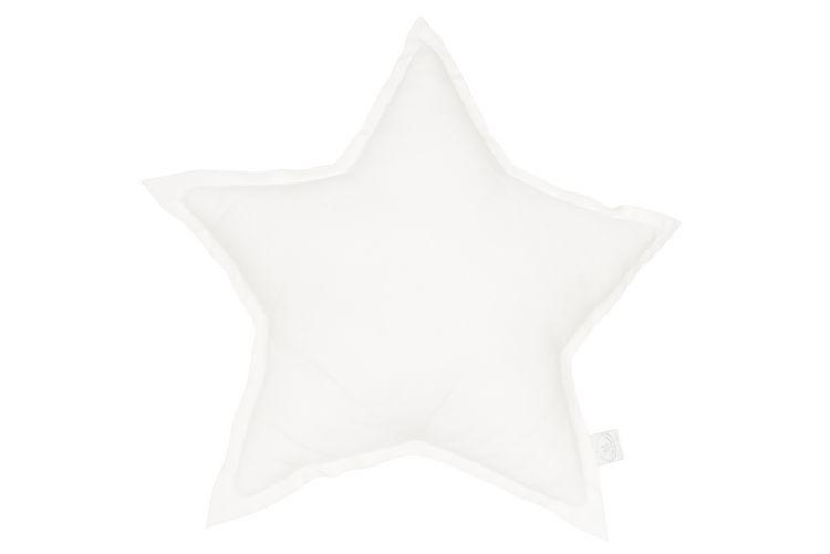 Kudde vit stjärna av linne, Cotton&Sweets Kudde vit stjärna av linne, Cotton&Sweets