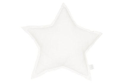 Kudde vit stjärna av linne, Cotton&Sweets