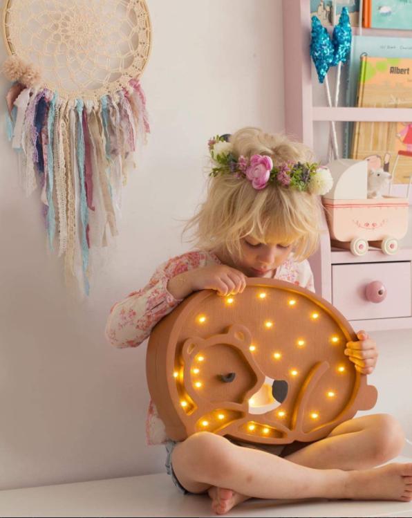 Nattlampa till barnrummet,  Lampa björn , Little Lights