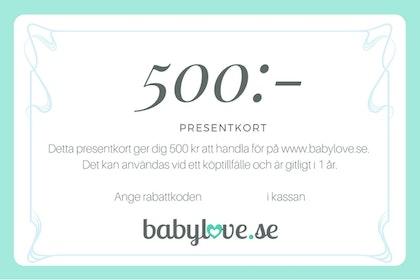 Presentkort 500 kr