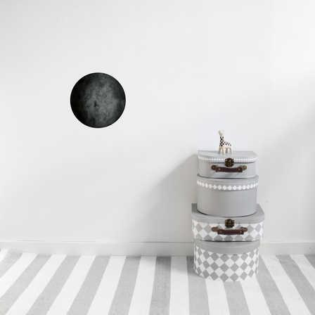 Nästan svart måne väggklistermärken, Stickstay Nästan svart måne väggklistermärken, Stickstay