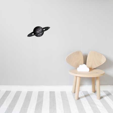 Nästan svart Saturnus väggklistermärken, Stickstay Nästan svart Saturnus väggklistermärken, Stickstay