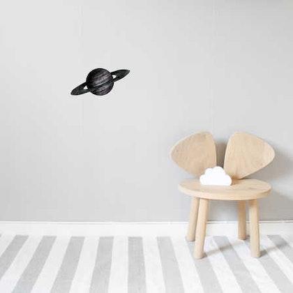 Nästan svart Saturnus väggklistermärken, Stickstay
