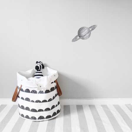 Grå Saturnus väggklistermärken, Stickstay Grå Saturnus väggklistermärken, Stickstay