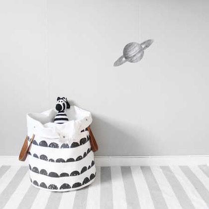 Grå Saturnus väggklistermärken, Stickstay