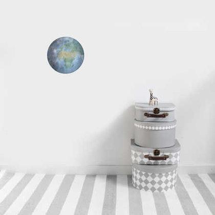 Jorden i färg väggklistermärken, Stickstay