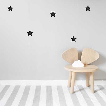 Nästan svarta stora stjärnor väggklistermärken, Stickstay