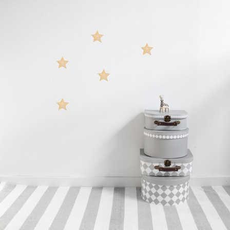 Guld stora stjärnor väggklistermärken, Stickstay Guld Stjärnor väggklistermärken, Stickstay