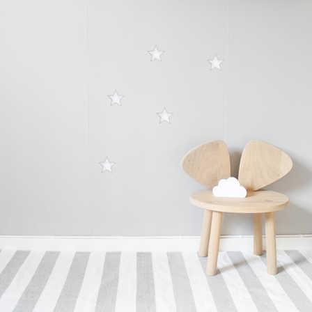 Vita stora stjärnor väggklistermärken, Stickstay Vita Stjärnor väggklistermärken, Stickstay