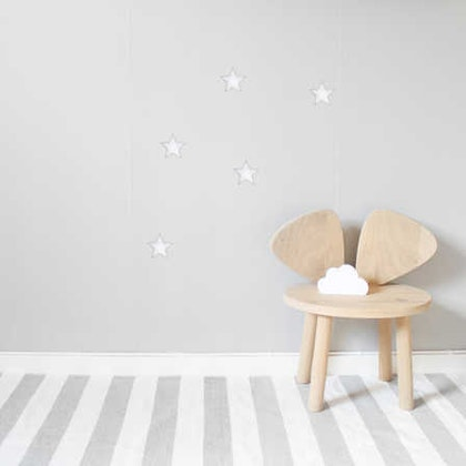 Vita stora stjärnor väggklistermärken, Stickstay