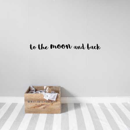 To the moon väggklistermärken, Stickstay