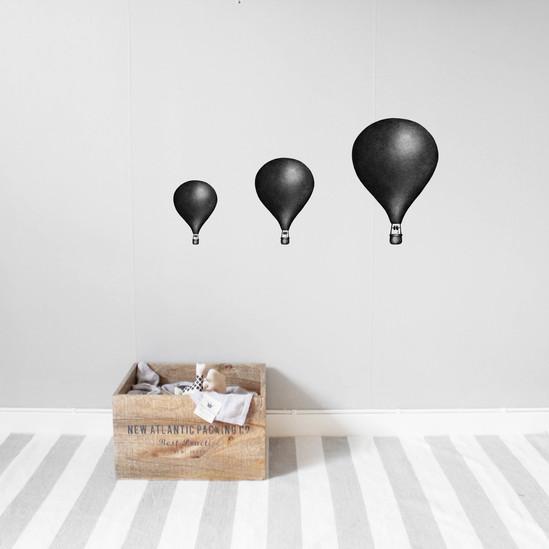 Svarta Luftballonger väggklistermärken, Stickstay Svarta Luftballonger väggklistermärken, Stickstay