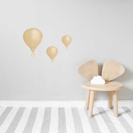 Senapsgula Luftballonger väggklistermärken, Stickstay Senapsgula Luftballonger väggklistermärken, Stickstay