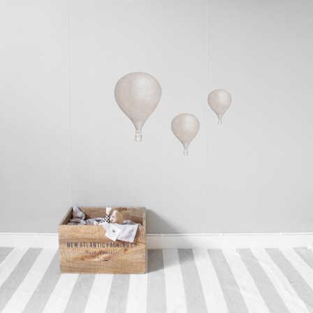 Puder beige Luftballonger väggklistermärken, Stickstay Puder beigea Luftballonger väggklistermärken, Stickstay