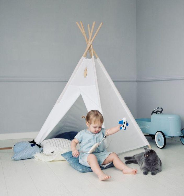 Lektält tipi - vit, Little Nomad vit lektält till barnrummet