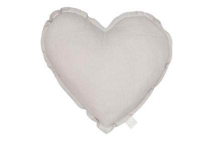 Kudde grå hjärta av linne, Cotton&Sweets