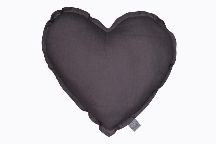 Kudde graphite hjärta av linne, Cotton&Sweets Kudde graphite hjärta av linne, Cotton&Sweets
