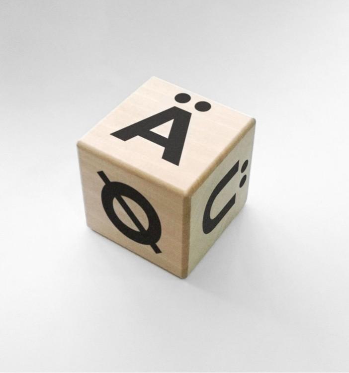 Träklossar alfabet – svart, Ohh noo