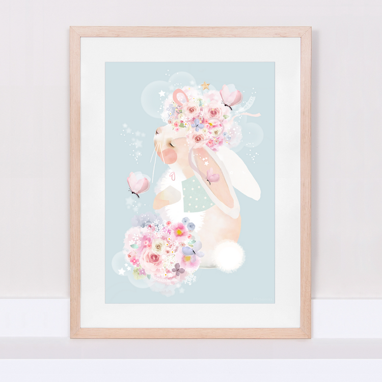 Poster Bunny's Butterflies, tavla till barnrummet, Schmooks