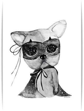 Poster Sorro A4, By Christine Hoel, Tavla till barnrummet