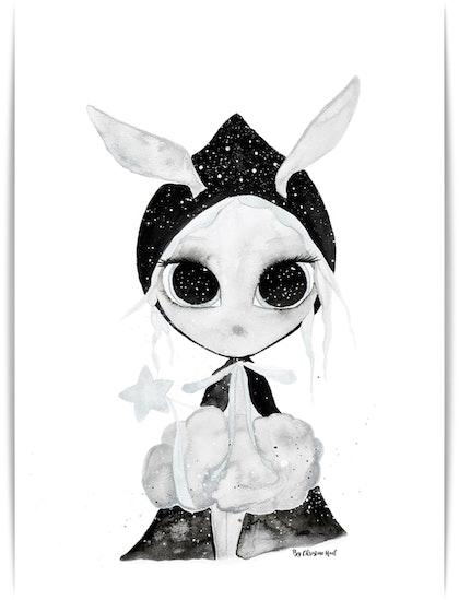 Poster Miss Galaxy A3, By Christine Hoel, Tavla till barnrummet