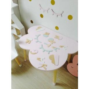 Bord rosa moln, bord till barnrummet
