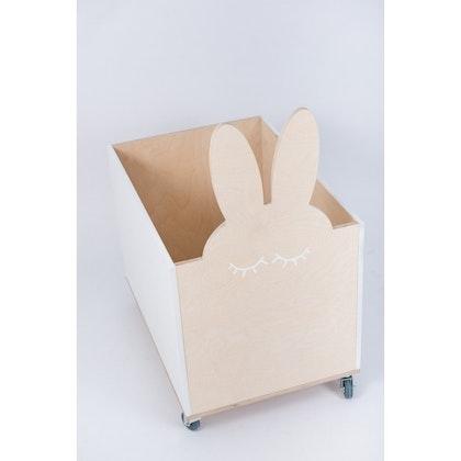 Förvaringslåda på hjul, kanin