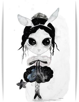 Poster Ballerina A3, By Christine Hoel, Tavla till barnrummet