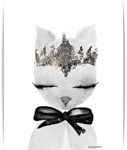 Poster Crown A3, By Christine Hoel, Tavla till barnrummet