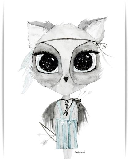 Poster Mr Robin A3, By Christine Hoel, Tavla till barnrummet
