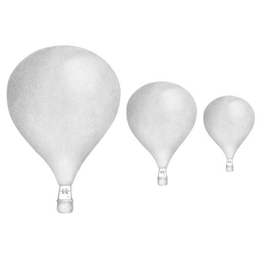 Ljusgrå Luftballonger väggklistermärken, Stickstay