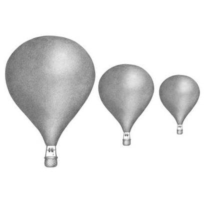 Grafitgråa Luftballonger väggklistermärken, Stickstay