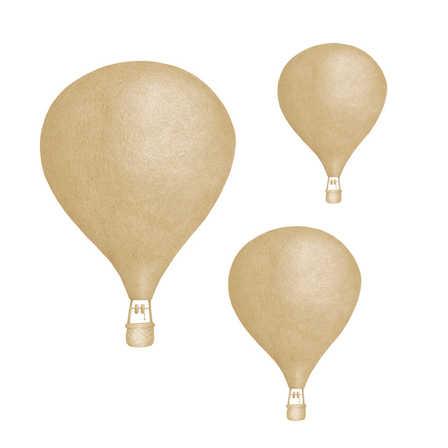 Senapsgula Luftballonger väggklistermärken, Stickstay