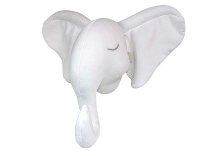 Djurhuvud vit elefant, Väggdekoration till barnrummet
