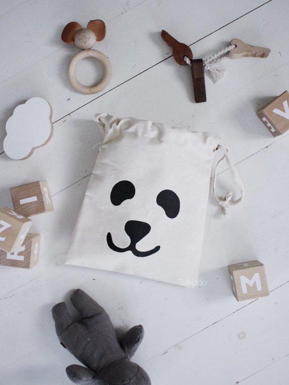 Tellkiddo förvaringspåse liten panda Tellkiddo förvaringspåse liten panda