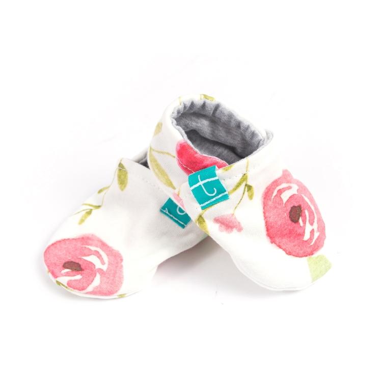 Newborn Mockasiner - Roses Organic
