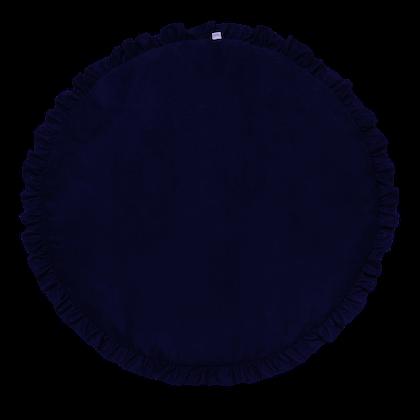 Mörkblå lekmatta DeLuxe med volang , Cotton & Sweets