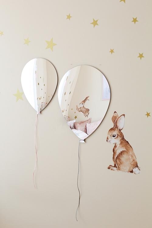 Spegel ballong till barnrummet Spegel ballong till barnrummet